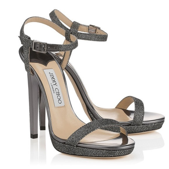 20811b0b37e Jimmy Choo Shoes - Jimmy Choo Claudette Glitter Platform Sandal